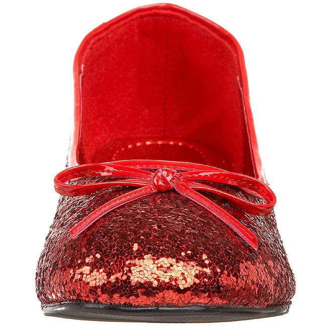 Chaussures De Ballerine Rouge Avec Des Paillettes fgtDbUbv