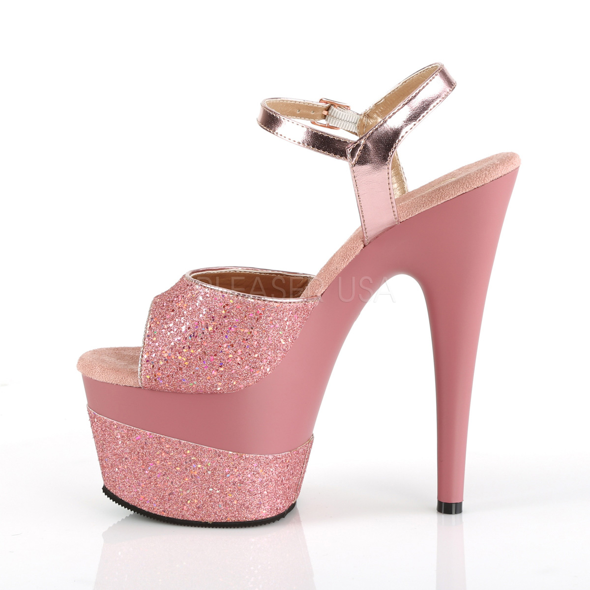 179f2da212 Rose 18 cm ADORE-709-2G glitter platform sandals shoes