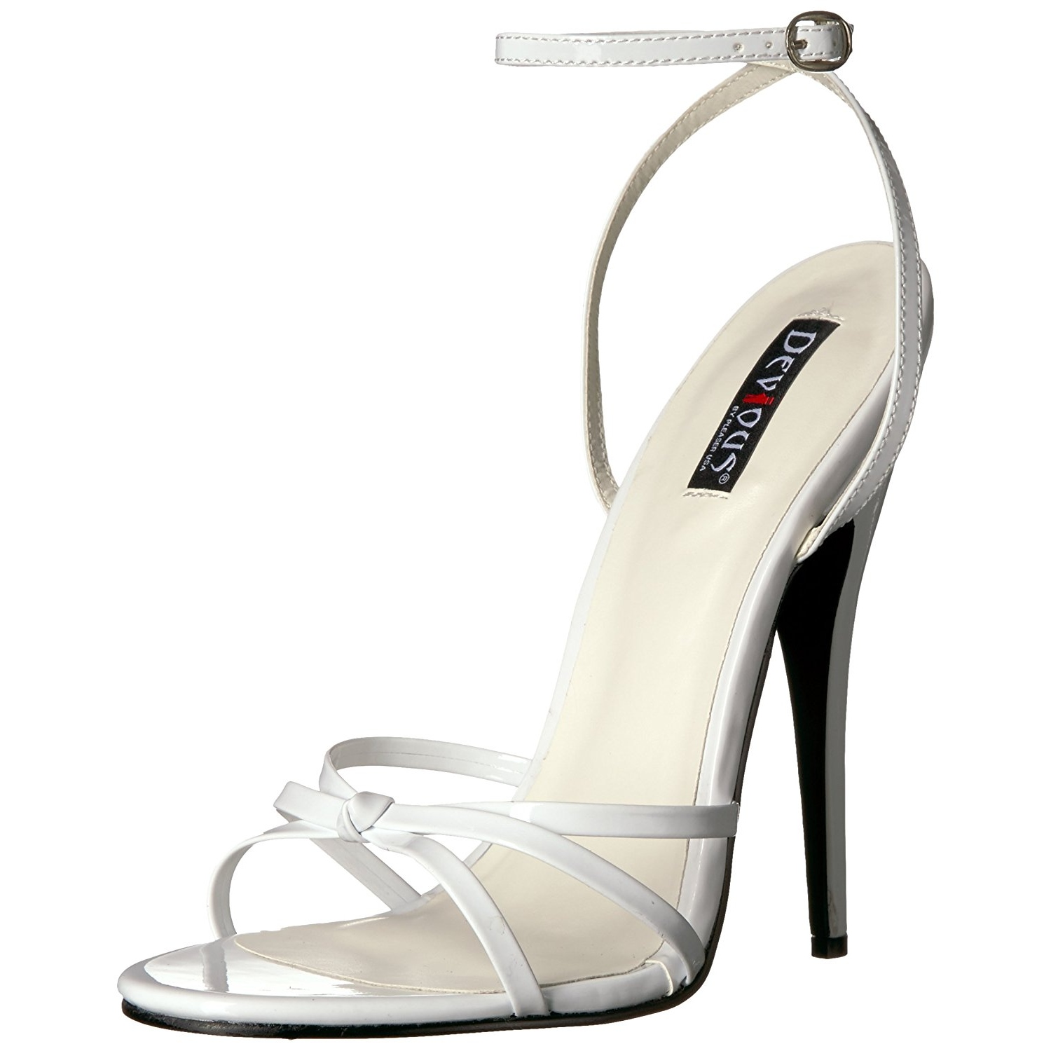 ce7b2b4917f White 15 cm Devious DOMINA-108 high heeled sandals