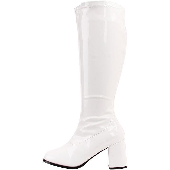 5b49c097e99 White Shiny GOGO300 W FUNTASMA big size Womens Boots High Heeled ...