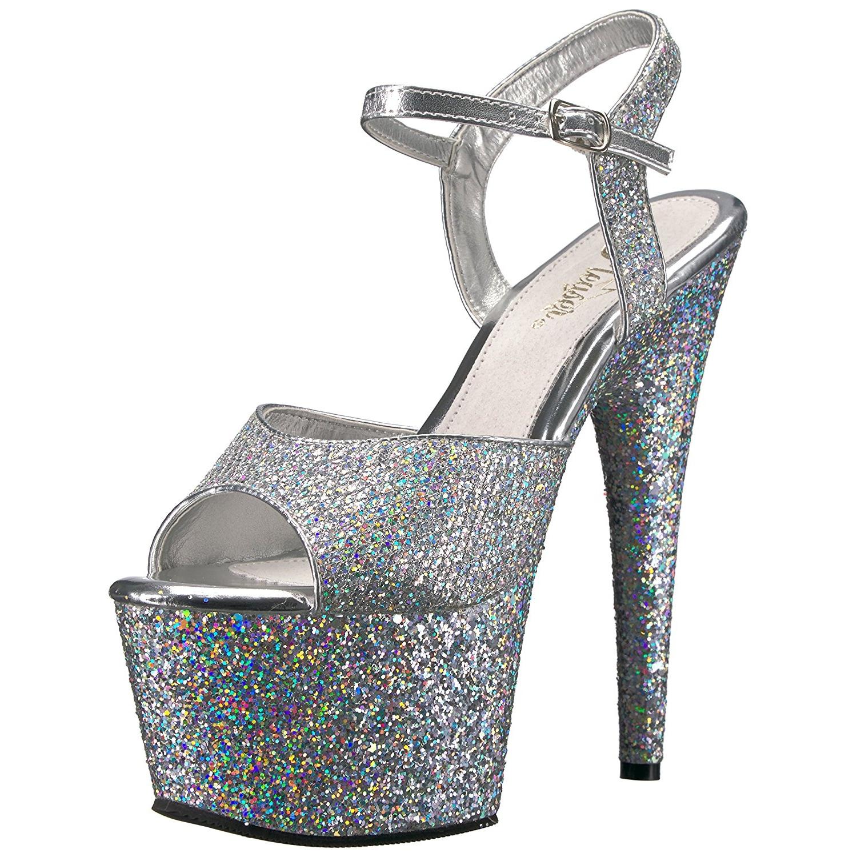 Argent Chaussures Plate-forme De Paillettes dQCk1M