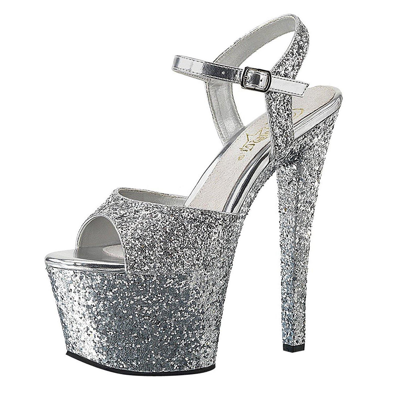 Argent Chaussures Plate-forme De Paillettes Zfm5fpml