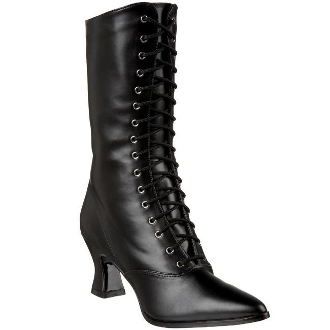 Pleaser Vic120 / B / Pu, Bottes De Femmes - Noir (noir), Taille: 41