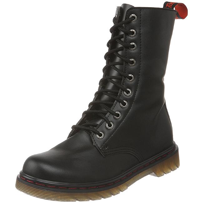 Zwart Kunstleer DEFIANT 200 Laarzen met Veters Mannen