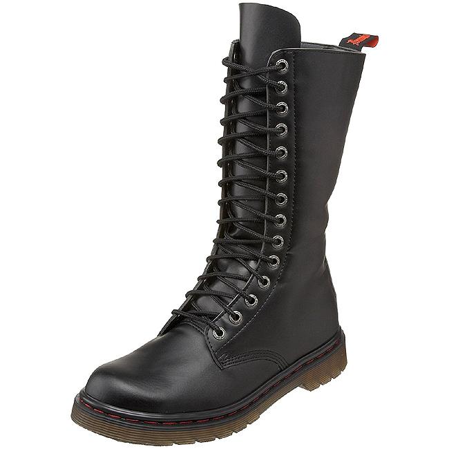 Zwart Kunstleer DEFIANT 300 Laarzen met Veters Mannen