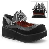 Zwart 6 cm DEMONIA SPRITE-09 gothic plateau schoenen