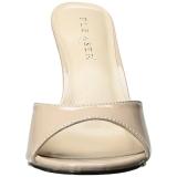 Beige 10 cm CLASSIQUE-01 dames slippers met hak