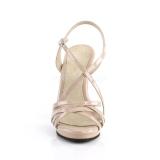 Beige 11,5 cm FLAIR-413 Fabulicious Sandalen met Hoge Hak