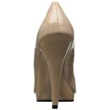 Beige 11,5 cm FLAIR-480 damesschoenen met hoge hak