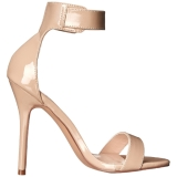 Beige 13 cm AMUSE-10 high heels schoenen voor travestie