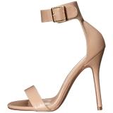 Beige 13 cm Pleaser AMUSE-10 high heeled sandals