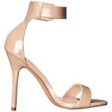 Beige 13 cm Pleaser AMUSE-10 sandalen met naaldhak