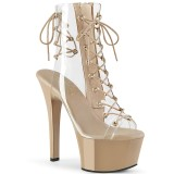 Beige 15 cm ASPIRE-600-30 Pole dancing ankle boots