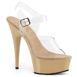 Beige 15 cm Pleaser DELIGHT-608 High Heels Platform