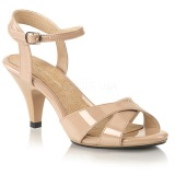 Beige 8 cm Fabulicious BELLE-315 high heeled sandals