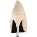 Beige Kunstleer 11,5 cm PINUP-01 grote maten pumps schoenen