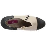 Beige Kunstleer 13,5 cm CHLOE-11 grote maten pumps schoenen