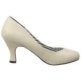 Beige Kunstleer 7,5 cm JENNA-01 grote maten pumps schoenen