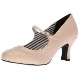 Beige Kunstleer 7,5 cm JENNA-06 grote maten pumps schoenen