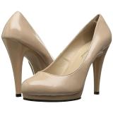 Beige Lak 11,5 cm FLAIR-480 dames pumps voor mannen
