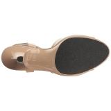 Beige Lak 8 cm BELLE-309 Dames Sandalen met Hak