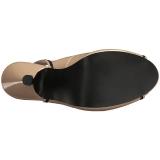 Beige Lakleer 11,5 cm PINUP-10 grote maten sandalen dames