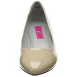 Beige Lakleer 6,5 cm KITTEN-01 grote maten pumps schoenen