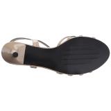 Beige Lakleer 6 cm KITTEN-06 grote maten sandalen dames