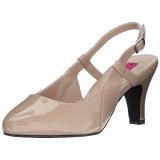 Beige Lakleer 7,5 cm DIVINE-418 grote maten pumps schoenen