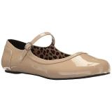 Beige Lakleer ANNA-02 grote maten ballerina´s schoenen