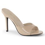 Beige Patent 10 cm CLASSIQUE-01 big size mules shoes