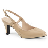 Beige Patent 7,5 cm DIVINE-418 big size pumps shoes