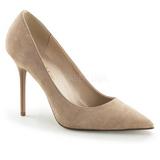 Beige Suede 10 cm CLASSIQUE-20 grote maten stilettos schoenen