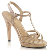Beige Varnish 12 cm FLAIR-420 High Heels for Men