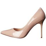 Beige Varnished 10 cm CLASSIQUE-20 pointed toe stiletto pumps