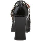 Black 10,5 cm CRYPTO-06 Mary Jane Pumps Shoes