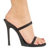 Black 11,5 cm Fabulicious GALA-02 Women Mules Shoes