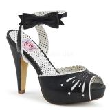 Black 11,5 cm Pinup retro vintage BETTIE-01 high heeled sandals