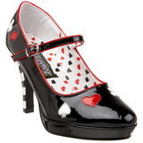 Black 11 cm CONTESSA-57 Womens Shoes with High Heels