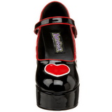 Black 11 cm QUEEN-55 Womens Shoes with High Heels
