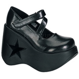 Black 13,5 cm DYNAMITE-03 lolita shoes gothic wedge platform shoes
