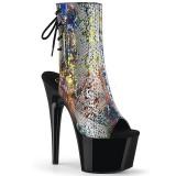 Black 18 cm ADORE-1018SP Pole dancing ankle boots