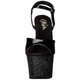 Black 18 cm SKY-309MG High Heels Glitter Platform