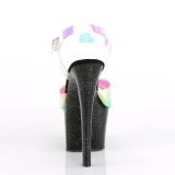 Black 18 cm SKY-320MMR glitter platform high heels shoes