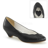 Black 4 cm LULU-05 Pinup Pumps Shoes with Low Heels