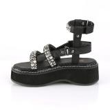 Black 5 cm Demonia EMILY-120 gladiator platform sandals