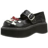 Black 5 cm EMILY-221 lolita gothic platform shoes