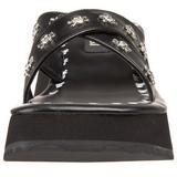 Black 6,5 cm FLIP-05 Goth Platform Sandals Womens
