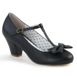 Black 6,5 cm WIGGLE-50 Pinup Pumps Shoes with Cuben Heels