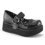 Black 6 cm DEMONIA SPRITE-05 gothic platform shoes